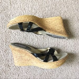 Size 11 summer wedge sandals cork heel shoes